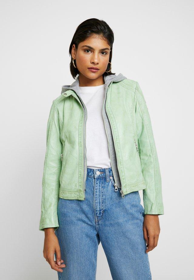 AELLY LAMAS - Leather jacket - mint