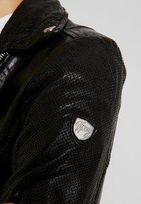 Gipsy - FAVOUR - Chaqueta de cuero - black - 6