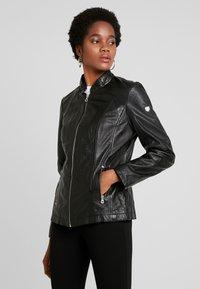 Gipsy - LOREY - Leather jacket - black - 0