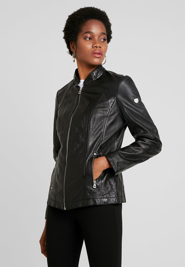 LOREY - Leather jacket - black
