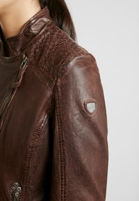 Gipsy - GGSAIJA LLAV - Leather jacket - brown - 3