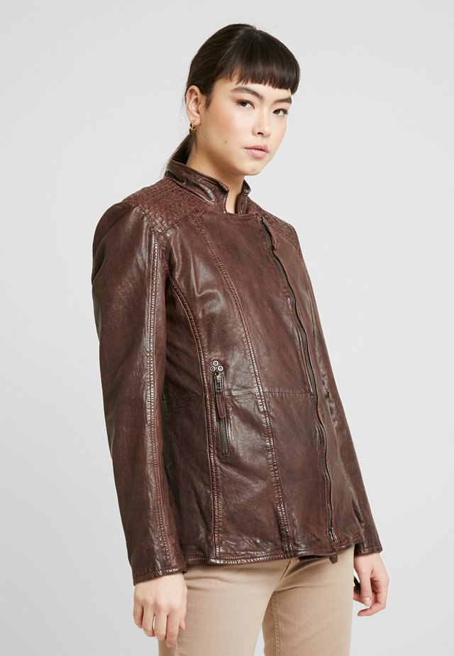 GGSAIJA LLAV - Leather jacket - brown
