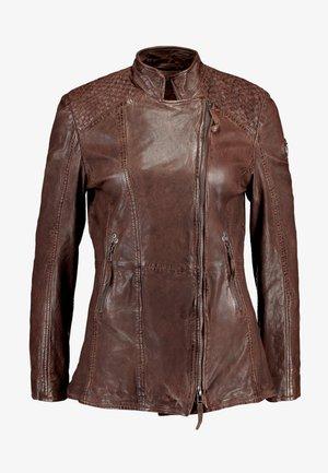 GGSAIJA LLAV - Leather jacket - brown