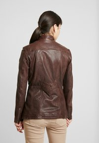 Gipsy - GGSAIJA LLAV - Leather jacket - brown - 2