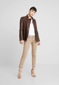 Gipsy - GGSAIJA LLAV - Leather jacket - brown - 1