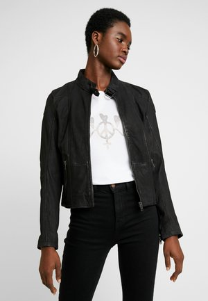KINA LABONV - Leather jacket - black