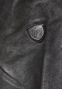 Gipsy - GGNIDEL LAMAS - Leather jacket - black - 3