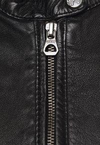 Gipsy - GGNIDEL LAMAS - Leather jacket - black - 2