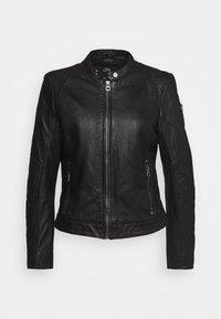 Gipsy - GGNIDEL LAMAS - Leather jacket - black - 0