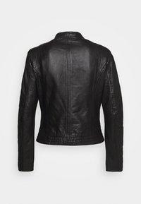 Gipsy - GGNIDEL LAMAS - Leather jacket - black - 1