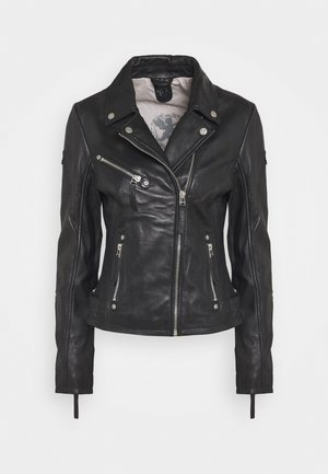PASJA - Kožená bunda - black