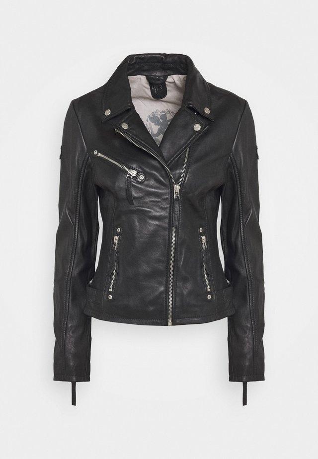 PASJA - Leather jacket - black
