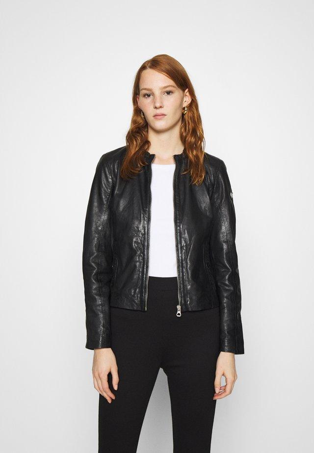 LASTAV - Kožená bunda - black