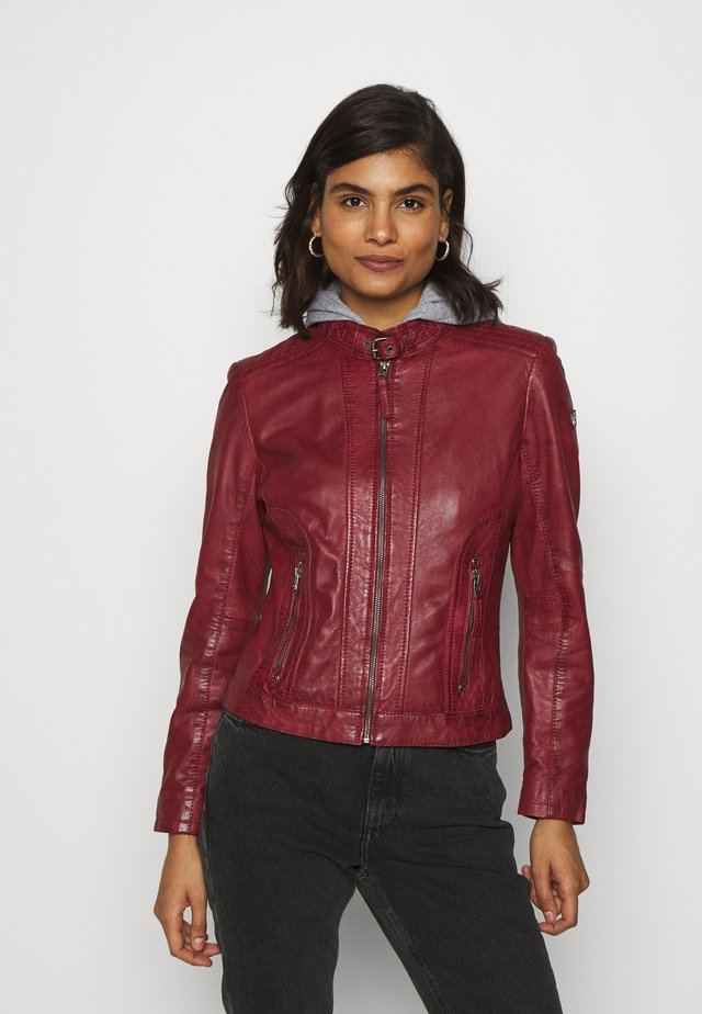TALIDA - Leather jacket - red