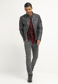 Gipsy - CHESTER - Leather jacket - dunkelgrau