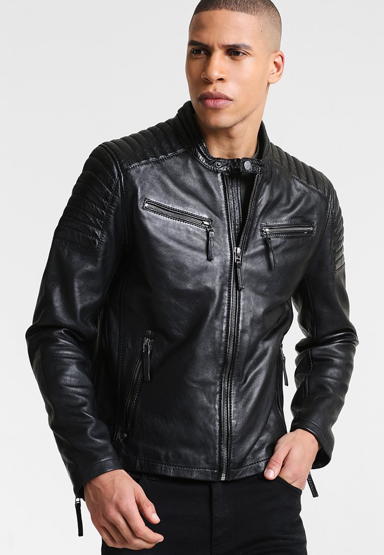 Gipsy - CHESTER - Leather jacket - schwarz