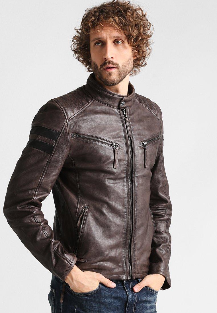 Gipsy - REMMY - Leather jacket - anthrazit