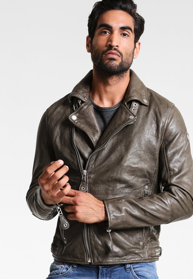 MAVRIC  - Leather jacket - oliv