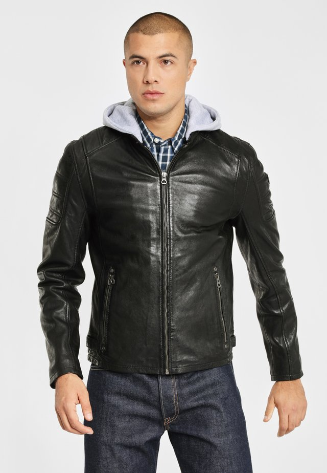 RYLO LAKEV - Leather jacket - black