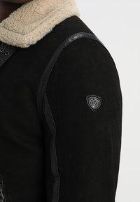 Gipsy - AIR FORCE - Leather jacket - schwarz/beige - 5