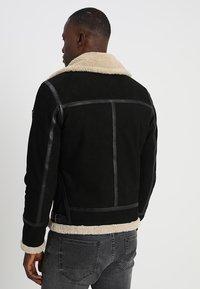 Gipsy - AIR FORCE - Leather jacket - schwarz/beige - 2