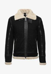 Gipsy - AIR FORCE - Leather jacket - schwarz/beige - 6