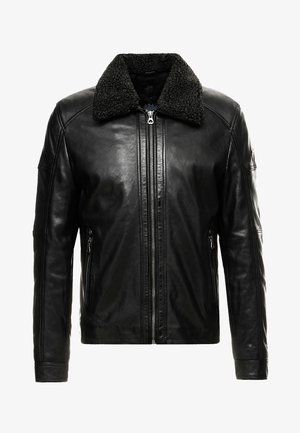OWEN LAHUV - Leather jacket - schwarz