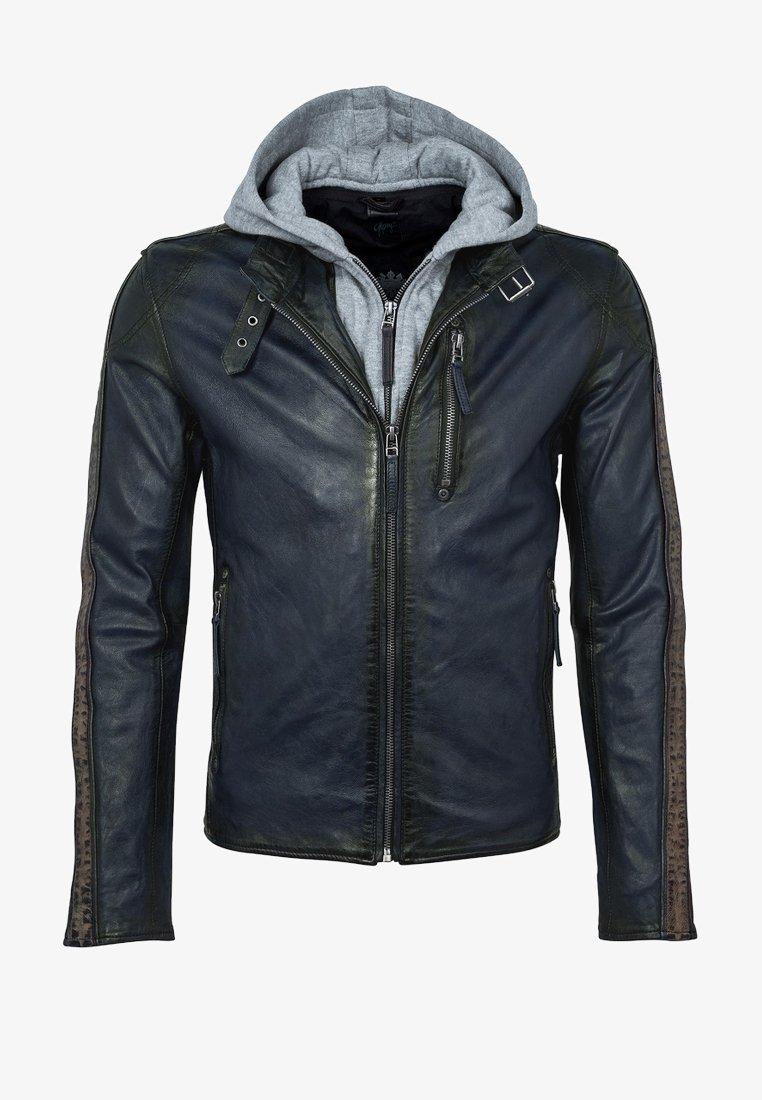 Gipsy - STEEP  - Leather jacket - dark blue