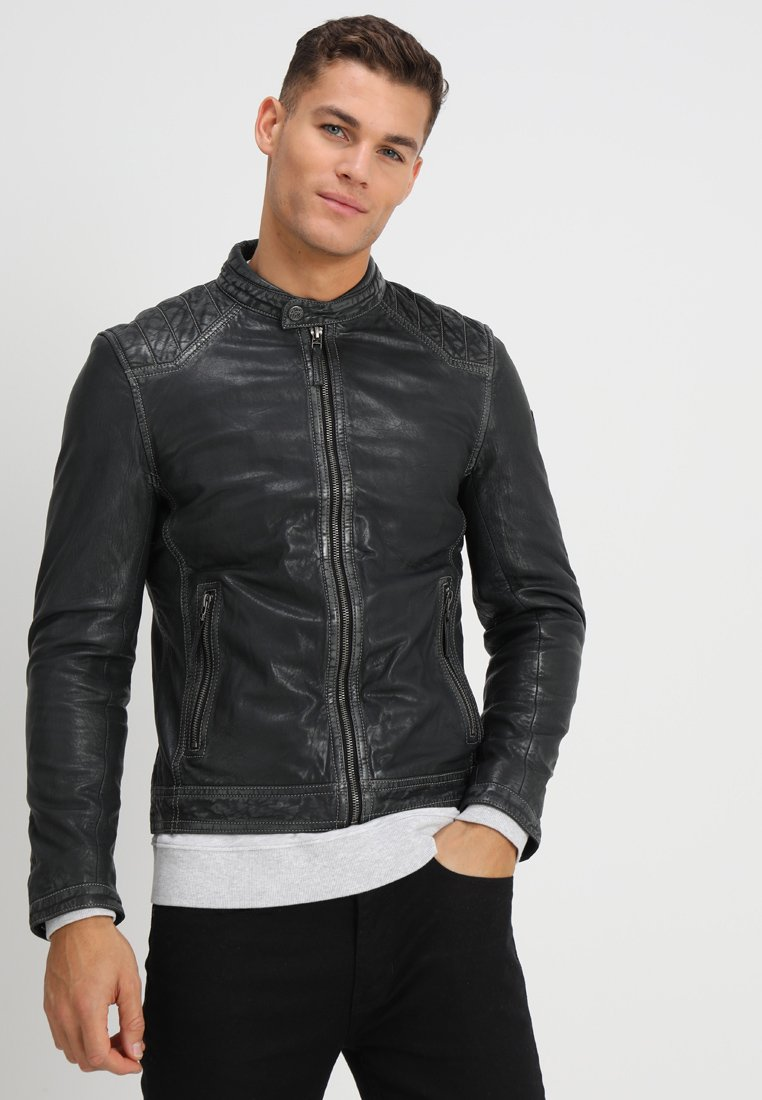 Gipsy - TJARK LAVEG - Leather jacket - anthrazit