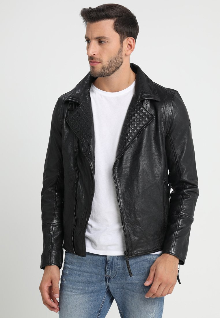 Gipsy - STEEM LASY - Leather jacket - schwarz