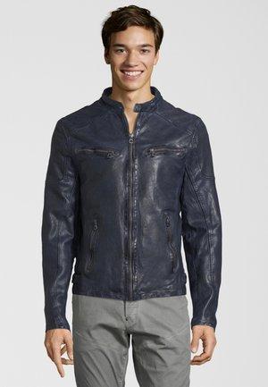 LAROV - Kožená bunda - dark blue