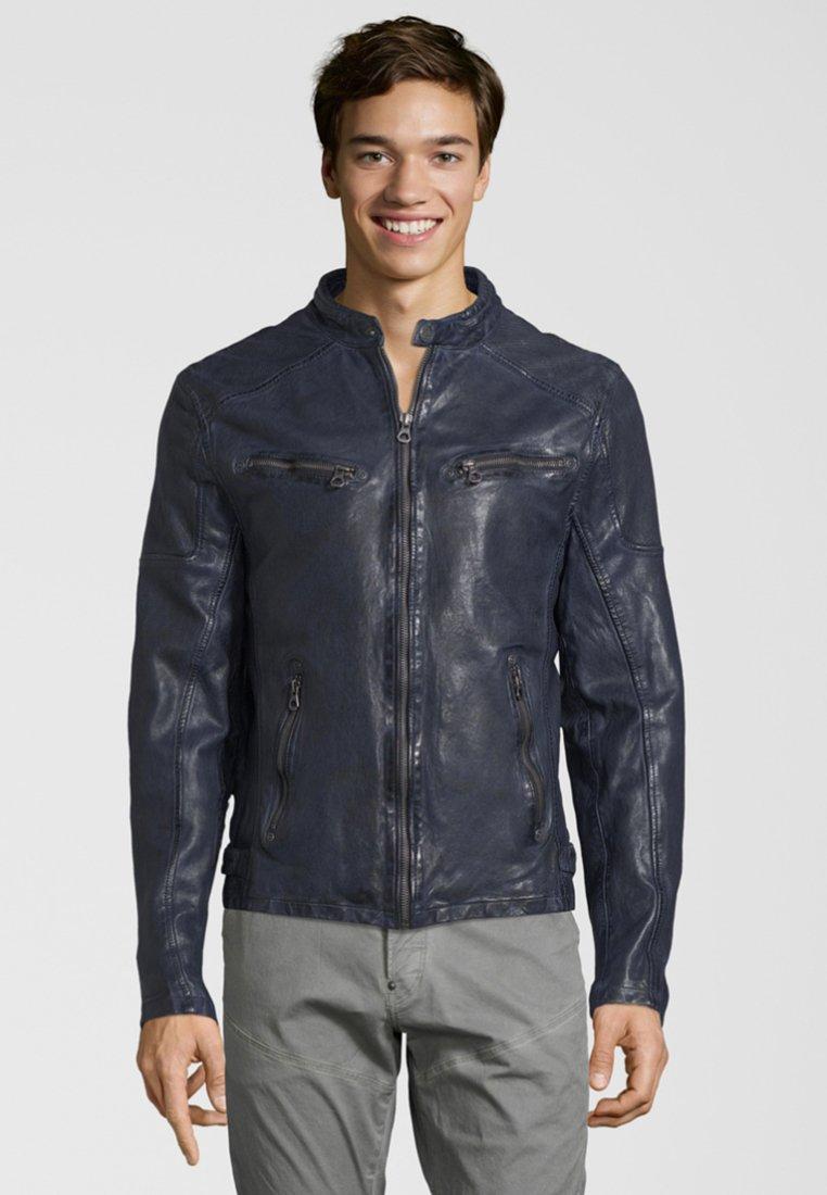 Gipsy - LAROV - Leren jas - dark blue