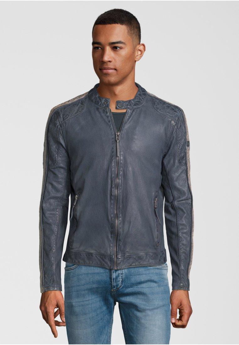 Gipsy - Leather jacket - smoke blue