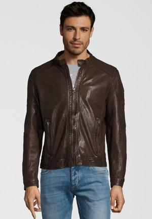 MILOW NSLV - Leren jas - dark brown