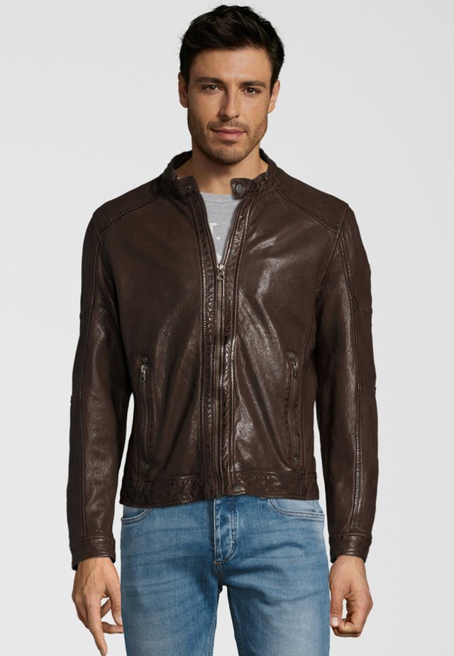 MILOW NSLV - Lederjacke - dark brown