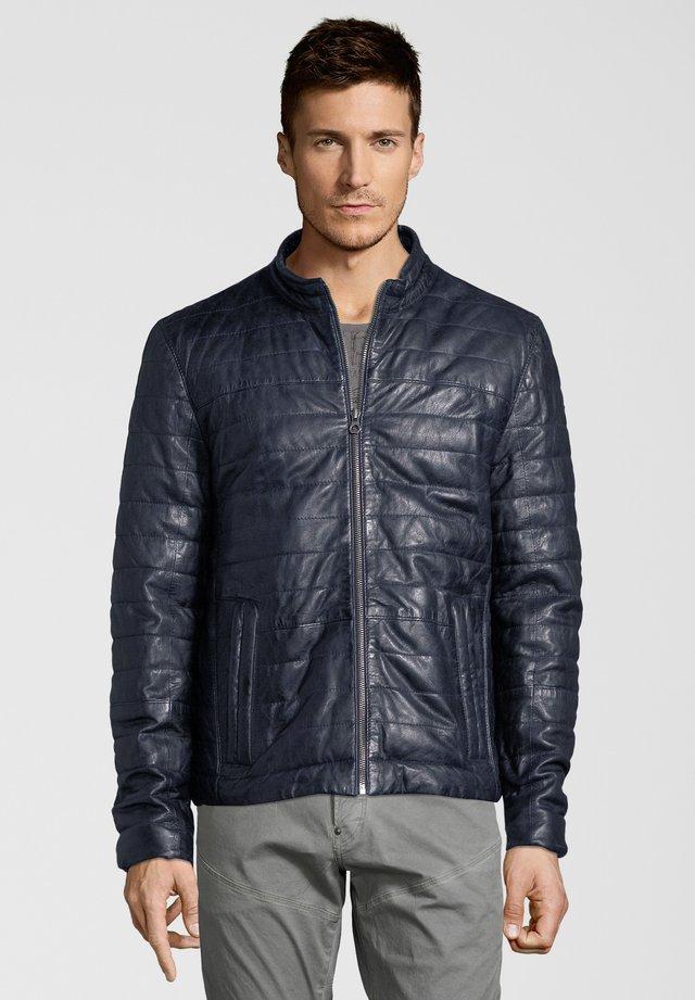 CALLAN LNB W - Leather jacket - dark navy