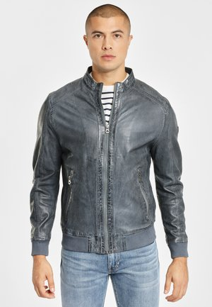 GBGRAHAN - Leather jacket - blue
