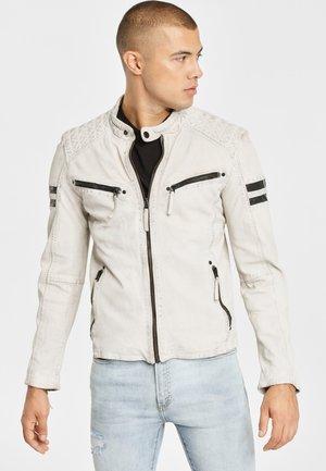 GBREMMY LACAV - Leren jas - white
