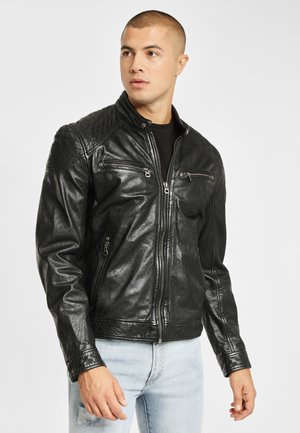GBGOREY LAGAV - Leather jacket - black