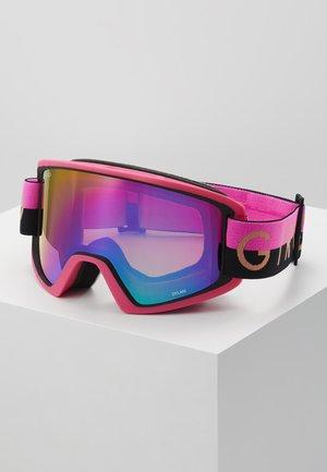 DYLAN - Ski goggles - black/pink throwback/rose spectrum/yellow