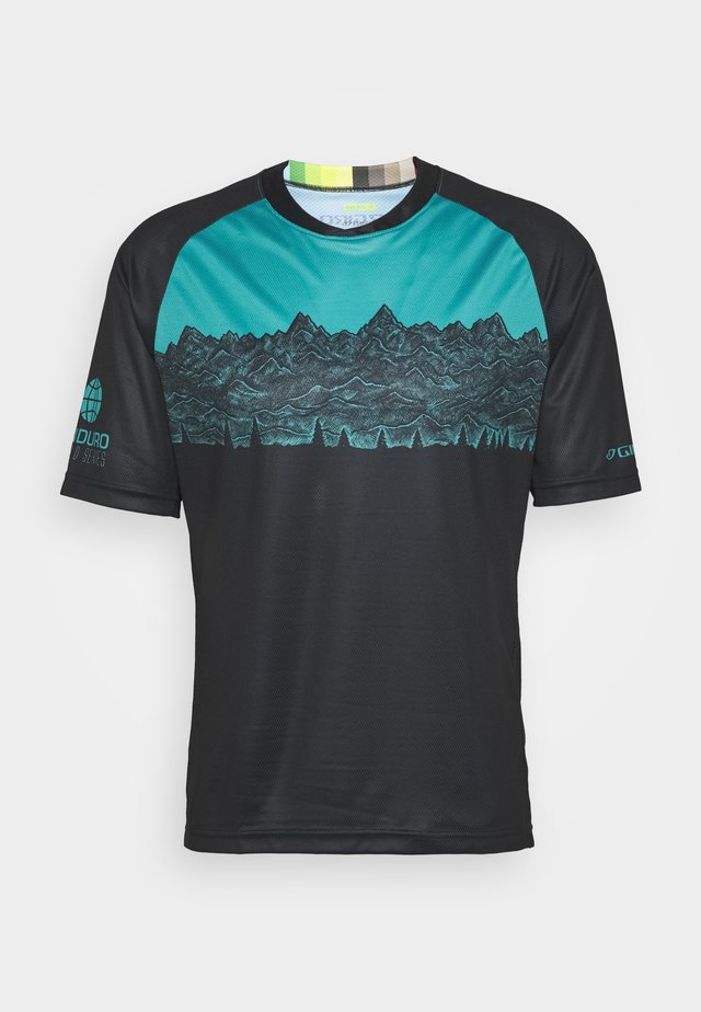 ROUST - T-shirt z nadrukiem - black