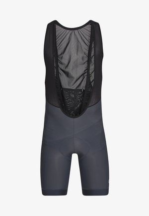 CHRONO SPORT BIB SHORT - Tights - gunmetal