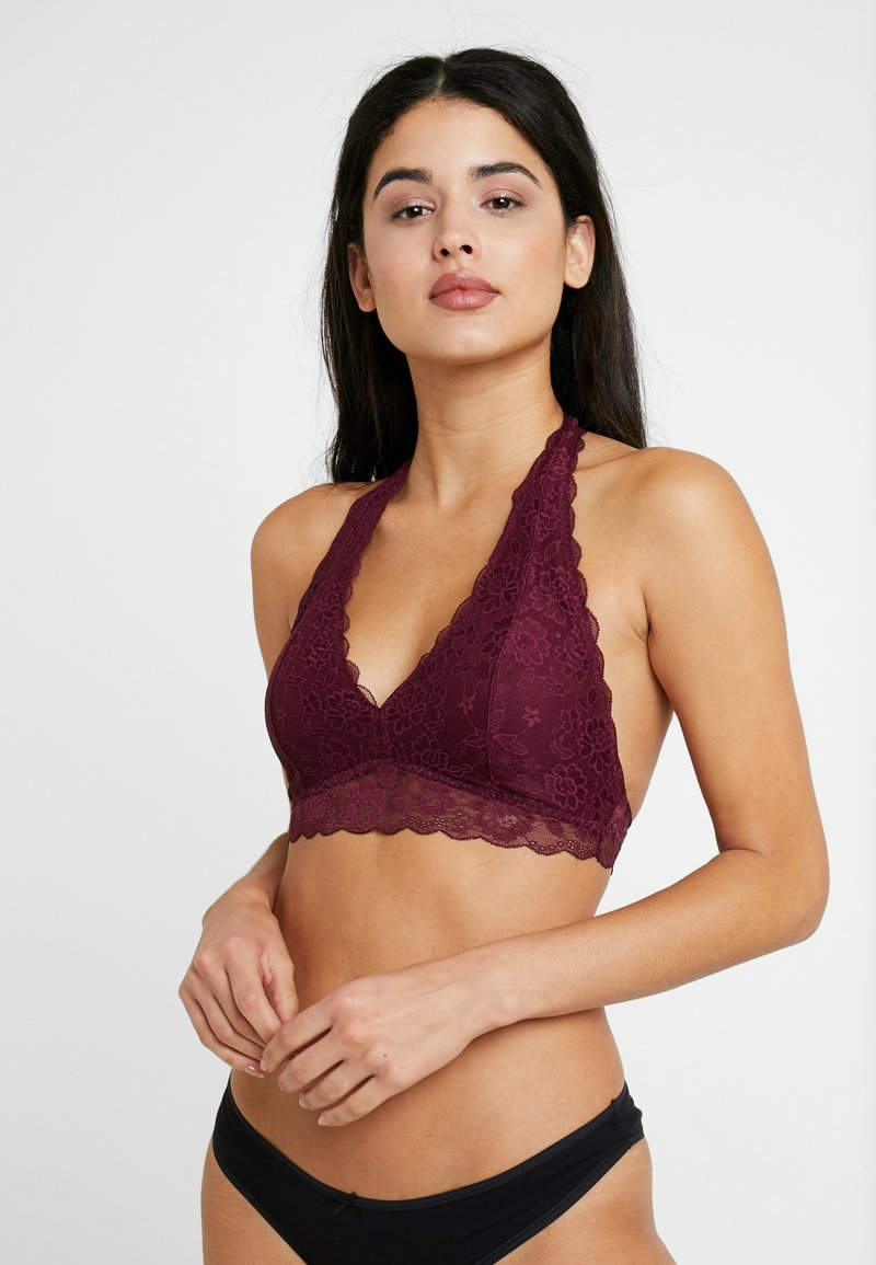 Gilly Hicks - CORE HALTER - Soutien-gorge triangle - berry wine
