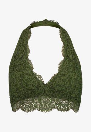 GEO HALTER - Triangle bra - rifle green