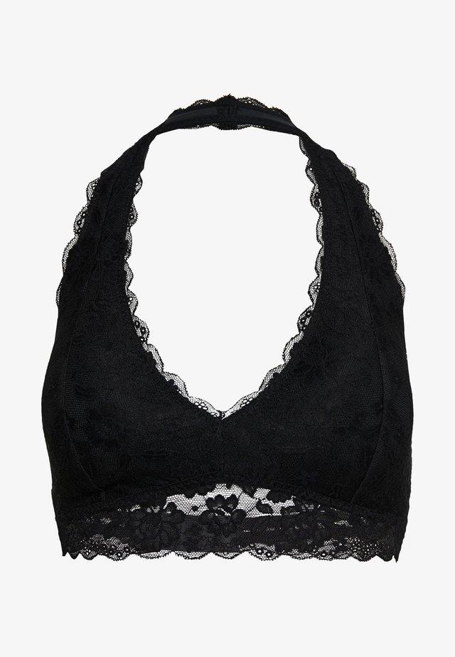CORE HALTER - Triangle bra - black