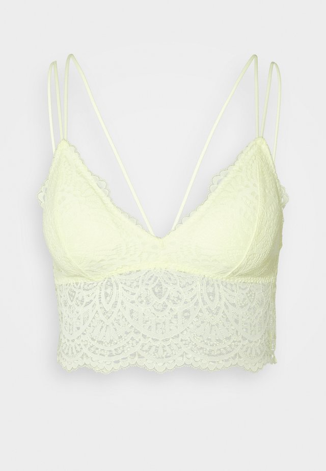 CROCHET LACE - Bustier - wax yellow