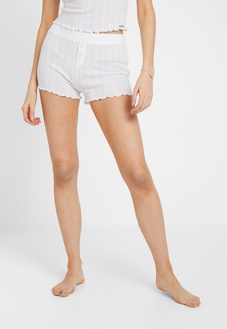 Gilly Hicks - POINTELLE SHORTIE - Pantalón de pijama - white
