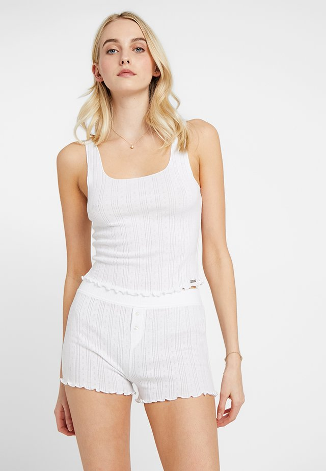 POINTELLE - Pyjamapaita - white
