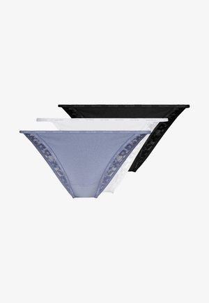 LOGO TANGA 3 PACK - Briefs - white/flint stone/black