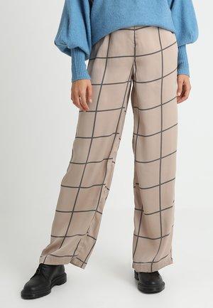 ELLA TROUSERS - Pantalon classique - beige/brown